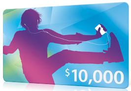 iTunes: für den 10 Milliardsten Song 10.000 Dollar iTunes Gutschein gewinnen - Ein Screenshot eines Computers - Geschenkkarte