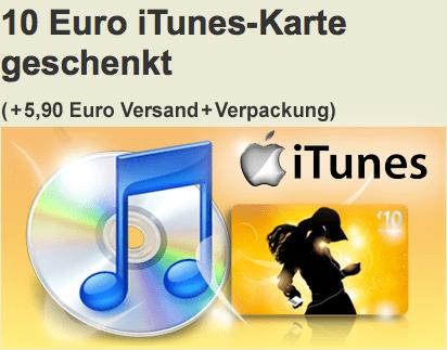 10 Euro iTunes Gutschein geschenkt - Ein Screenshot eines Mobiltelefons auf einem Tisch - Produktdesign