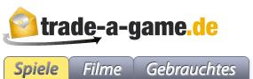 Gebrauchte Games/Filme: 5 Euro sparen - Eine Nahaufnahme von einem Logo - Logo