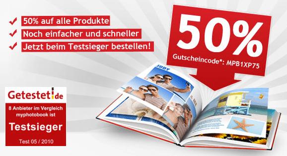 50% auf Fotoprodukte - Eine Nahaufnahme von einem Schild - Werbung anzeigen