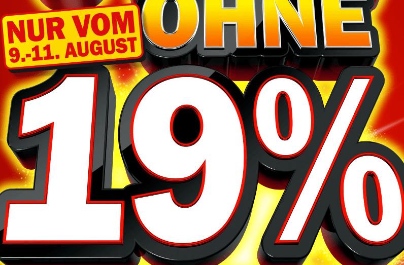 Media Markt Agenda 2010: 19% Rabatt! - Eine Nahaufnahme von einem Schild - Logo