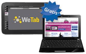 OnVista Bank: WeTab 3G für alle Neukunden - Eine Nahaufnahme von einem Laptop-Computer - Netbook