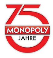 Für Berliner: neues Monopoly mit Spielgeld bezahlen - Eine Nahaufnahme von einem Schild - Logo
