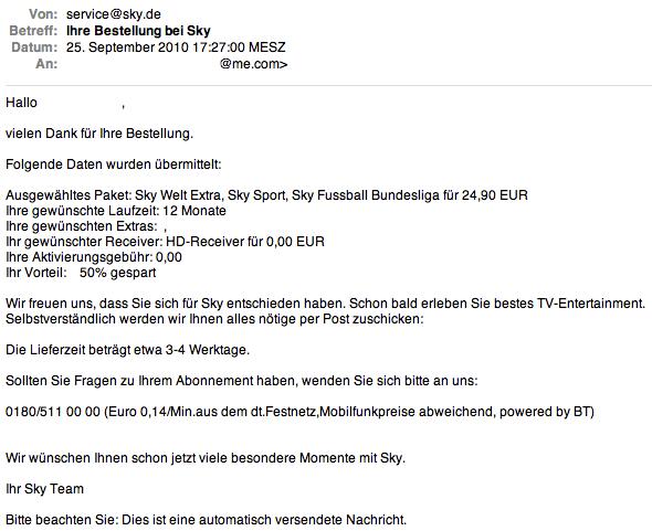 Sky günstig bestellen: 12 Monate Sport inkl. HD für 24,95 Euro/Monat - Ein Screenshot eines Social Media Beitrags - Winkel
