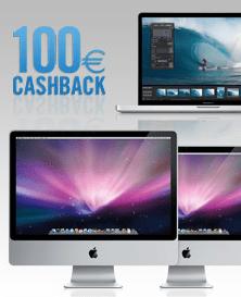 Alter PC + neuer Mac = 100 Euro Cashback - Ein Desktop-Computer-Monitor sitzt auf einem Schreibtisch - Apple MacBook Pro