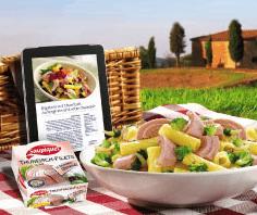 Saupiquet Gewinnspiel: 11 iPads sind zu gewinnen - Ein Tablett mit Essen auf einem Tisch - Vegetarische Küche