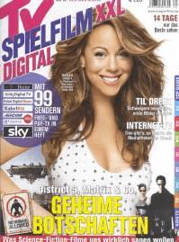 TV Spielfilm XXL Digital Halbjahresabo komplett kostenlos - Mariah Carey in einer Zeitung - Haare färben