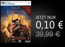 Age of Empires III Download für 0,10 Euro - Eine Nahaufnahme von einem Schild - Age of Empires III: Die asiatischen Dynastien