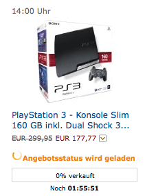 Amazon Cyber Monday: bis zu 80% Rabatt auf einzelne Amazon Produkte - Ein Screenshot eines Handys - Sony PlayStation 3 Slim