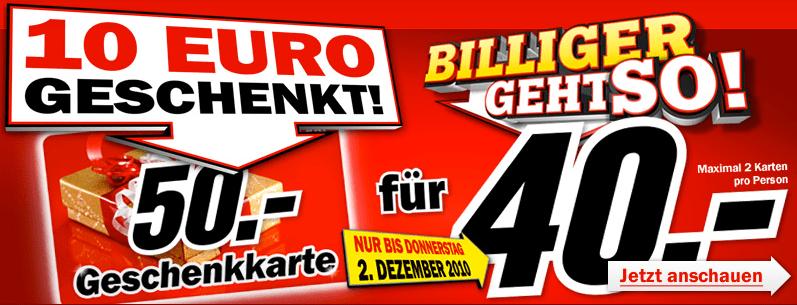 Bis Donnerstag: 50 Euro Media Markt Geschenkkarte für 40 Euro - Eine Nahaufnahme von einem Schild - Logo