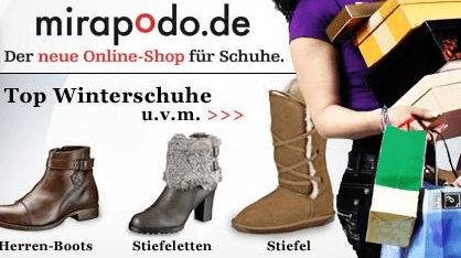 30 Euro Mirapodo Schuh Gutschein für 9 Euro - Eine Frau mit einer Gitarre - Einkaufen