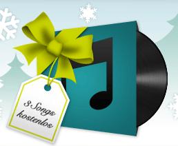 Xing verschenkt 3 Weihnachtssongs bei iTunes - Produktdesign