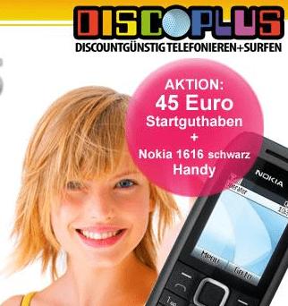Nokia 1616 Handy & 45 Euro Prepaid-Guthaben für 14,95 Euro! - Ein lächelndes Mädchen, das ein Selfie macht - Nokia 1616