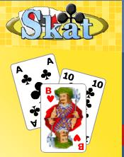 Kostenlos Skat lernen - Eine Nahaufnahme von einem Logo - Kartenspiel