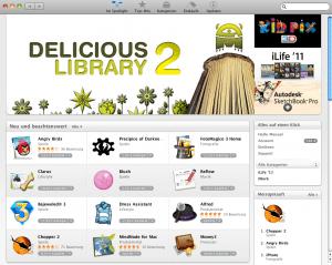 Gute Angebote im neuen Mac App Store - Ein Screenshot eines Handys - Appstore