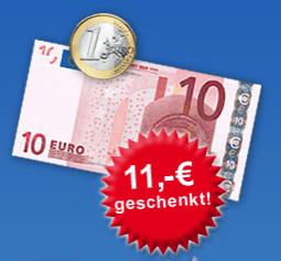 11 Euro Rabatt beim Hagebau Online Baumarkt - Eine Nahaufnahme von einem Schild - Kasse