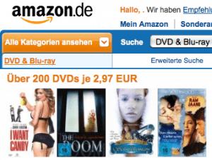 Über 200 DVDs je 2,97 EUR bei Amazon - Ein Screenshot eines Social Media Beitrags - Werbung anzeigen