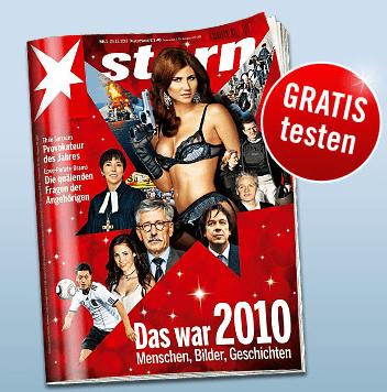 """Eine Ausgabe der Zeitschrift """"stern"""" gratis testen - Eine Person, die ein Zeichen hält, das für die Kamera aufwirft - Stern"""