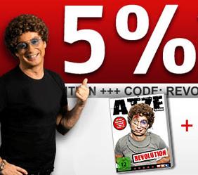 Medion Shop: 5% Rabatt auf alle PCs & Notebooks - Atze Schroder hält ein Stoppschild - T-Shirt