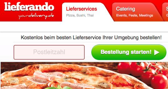 Nur heute: 5 Euro für Lieferando (Lieferservices) - Eine Pizza sitzt auf einem Schild - Pizza