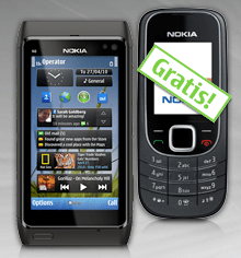 Nokia: 2 zum Preis von 1 - Ein Screenshot eines Handys - Nokia N8