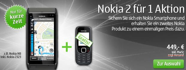 Nokia: 2 zum Preis von 1 - Bildschirm eines Handys - Feature-Telefon