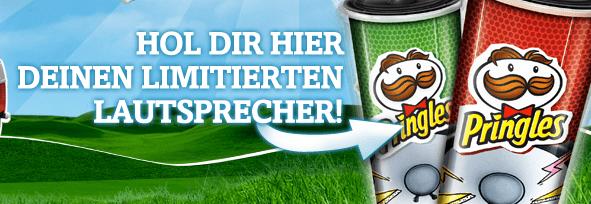 Kostenloser Lautsprecher für 3 Pringles Packungen - Eine Tasse grünes Gras - Spiel