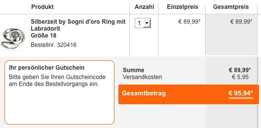 HSE24 Gutscheincode: 20 € Rabatt im September - Ein Screenshot eines Handys - Produktdesign