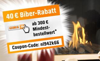 OBI Online Baumarkt Gutscheine - Eine Person mit einem Schild - Werbung