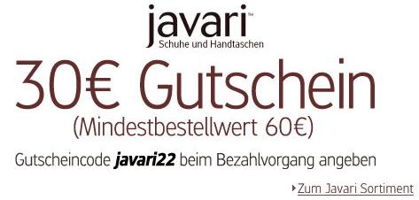 30 € Javari Gutschein – bei 60 € Mindestbestellwert - Ein Screenshot eines Handys - Schriftart