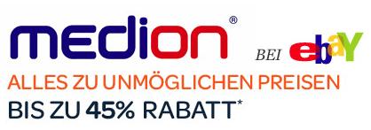 """Medion Produkte bei eBay zu """"unmöglichen Preisen"""" - Eine Nahaufnahme von einem Logo - Logo"""
