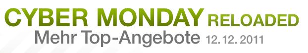 Heute: Cyber Monday Reloaded - Eine Nahaufnahme von einem Logo - Logo