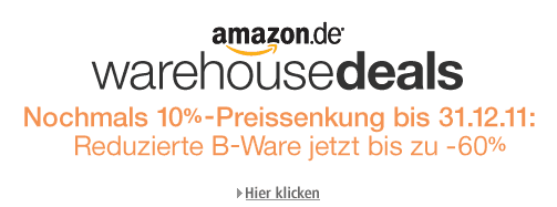 10% Rabatt auf alle Amazon Warehouse Deals / B-Ware - Logo
