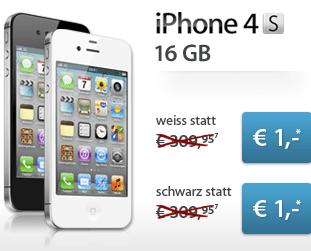 Günstiges iPhone 4S 16 GB inkl. Tarif: 599,80 € (Studenten etc.) / 719,80 € - Ein Screenshot eines Handys auf einem Parkplatz - iPhone 4