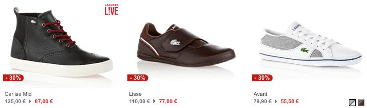 Lacoste Sneaker im Sale - Ein Paar weiße Schuhe - Schuh