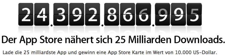 Apple Appstore Gewinnspiel