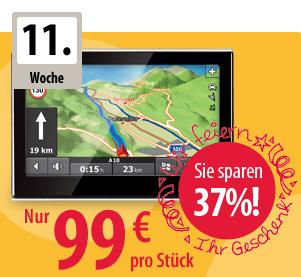 Falk Navigationsgerät S450 für 99 € (37% Rabatt ggü. UVP) - Eine Nahaufnahme von einem Schild - Werbung anzeigen