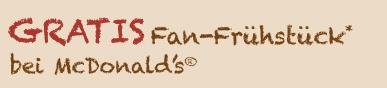Gratis Frühstück bei McDonalds - Logo