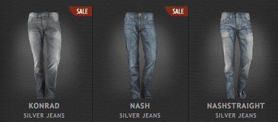 Mit Gutschein: Günstige Silver Jeans Hosen - Ein Mann steht vor einem Bildschirm - Jeans