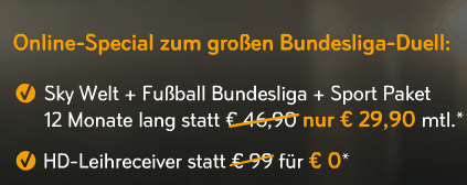 Sky günstig bestellen: 12 Monate Sport inkl. HD für 24,95 Euro/Monat - Ein Screenshot eines Handys - Schriftart