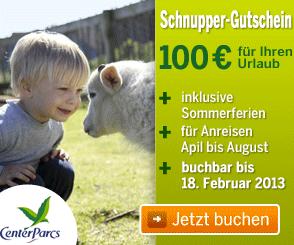 Schnupper Gutschein Center Parcs