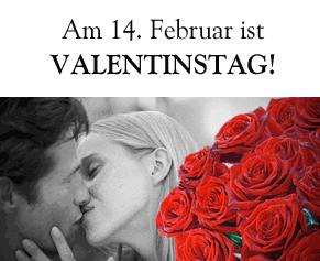 Foto mit Text Valentinstag