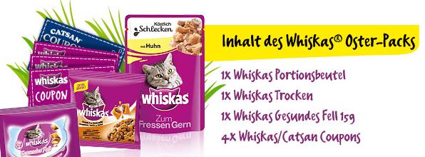Abbildung der Whiskas Probenprodukte