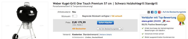 Weber one Touch Premium bei eBay