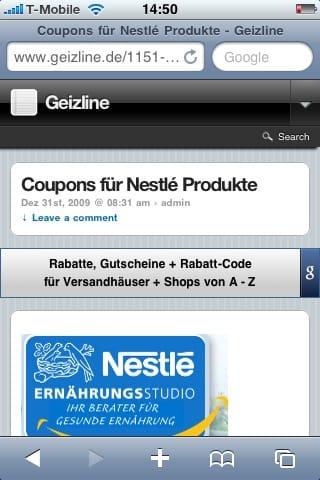 Geizline: jetzt auch für iPhone und Co. - Ein Whiteboard mit schwarzem Text - Papier
