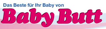 5 Euro Baby Butt Gutschein – Babyartikel - Eine Zeichnung einer Zeichentrickfigur - Logo