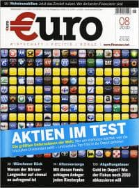"""Zeitschrift """"Euro"""": 1 Jahr lang für 9,40 Euro - Eine Nahaufnahme von einem Logo - Euro am Sonntag"""